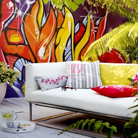 Graffiti in furniture nice thing to see iddesign jeddah for Outdoor furniture jeddah